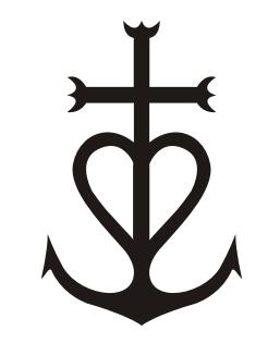 croix,camargue,logo,paul
